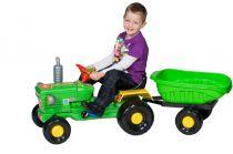 Traktor z przyczepką