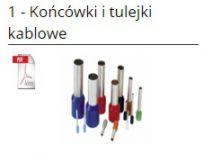 Końcówki i tulejki kablowe