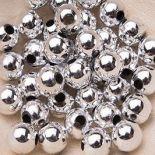 Koraliki Perełki 8mm 10g Kolor Srebrny [ Zestaw - 50 Kompletów]