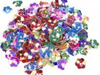 Cekiny Kwiatki 3D Duże 8g [Komplet - 50 Paczek]