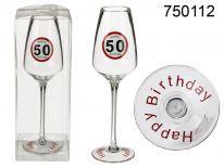 Urodzinowy kieliszek do szampana - 50