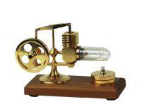 Silnik Stirlinga pokryty 24-karatowym złotem