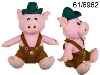 Pluszowa jodłująca świnka w kapeluszu