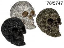 Skarbonka czaszka koraliki