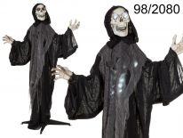 Halloweenowy duch z czaszką z podstawą i efektami