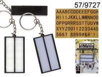 Podświetlany brelok LED z zestawem liter i symboli