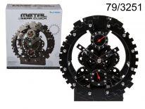Zegar metalowy koło zębate