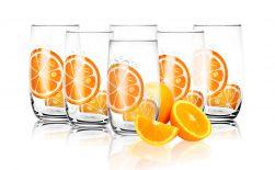 Szklanki do drinków; soków 320 ml Pomarańcza