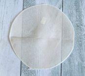 Mata na stół pleciona, jutowa okrągła 30 cm