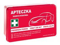 Apteczka samochodowa w pudełku z tworzywa APA04