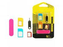 Adapter sim 5w1 nano micro sim kluczyk