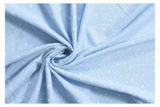Tkanina muślin błękitny w gwiazdki