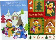 Kartka pocztowa ' Disney ' 15x10cm świąteczna bajkowe postacie mix wzór KA-127TS