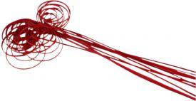 Kwiaty dekoracja do wazonu gałązka 10szt 54cm ratan czerwona / żółta / beż w folii KW-069TH
