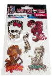 Tatuaż: 3 listków xl na blist. 'Monster High' NA-325TH