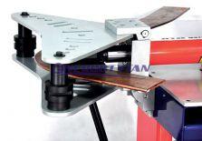 Giętarka hydrauliczna horyzontalna do szyn Al i Cu GHP-205