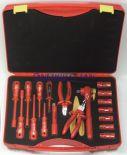 Zestaw walizkowy narzędzi izolowanych 251907, 18 części