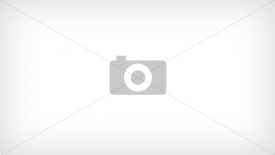 Bombki w paski matowe 10 cm - kpl 3 szt w folii
