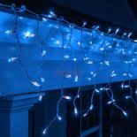 SOPLE CHOINKOWE 300 LED LAMPKI NIEBIESKIE 13m #8