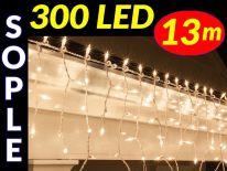 SOPLE CHOINKOWE 300 LED LAMPKI BIAŁE ZIMNE 13m #8