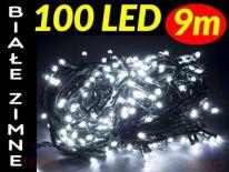 LAMPKI CHOINKOWE 100 LED ŁĄCZENIE BIAŁE ZIMNE #2