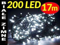 LAMPKI CHOINKOWE 200 LED ŁĄCZENIE BIAŁE ZIMNE #3