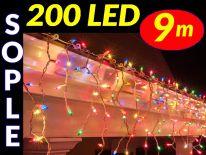 SOPLE CHOINKOWE 200 LED LAMPKI MULTIKOLOR 9m #7