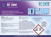 RF 2000 - Środek do samoczynnego przetykania odpływów kanalizacyjnych  - KONCENTRAT