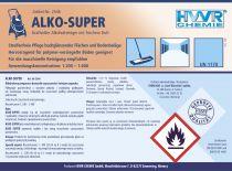 ALKO-SUPER Środek do czysczenia podłóg na bazie alkoholu. KONCENTRAT