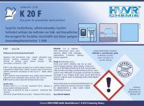 Płyn nabłyszczający do zmywarek - K 20 F - koncentrat