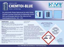 Środek do toalet mobilnych -CHEMTOI-BLUE  koncentrat