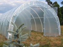 Tunele foliowe PCW z folią 4-sezonową o szerokości 3m i wysokości 1,90m