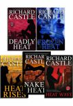Richard Castle 5 Books Collection Set Nikki Heat Series  Deadly Heat Frozen Heat Heat Rises Naked Heat And Heat Wave