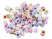 Kolorowe Literki Małe 5mm/100szt [ Zestaw - 50 Kompletów]