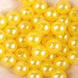 Koraliki Perełki 8mm 10g Kolor Cytryna [ Zestaw - 50 Kompletów]