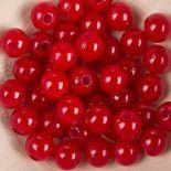 Koraliki Perełki 8mm 10g Kolor Czerwony Pastel [ Zestaw - 50 Kompletów]