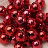 Koraliki Perełki 8mm 10g Kolor Czerwony Multi [ Zestaw - 50 Kompletów]