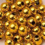 Koraliki Perełki 8mm 10g Kolor Złoty [ Zestaw - 50 Kompletów]