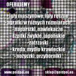 IGŁY AGRAFKI SZPILKI pasmanteria internetowa www.goldpol.eu