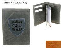 Portfel Męski skórzany N890-H Scorpio/Grey