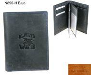Portfel Męski skórzany N890-H Blue