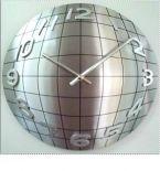 Zegar ścienny Wall Street Silver