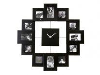 Zegar ścienny Family time black