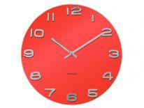 Zegar ścienny Vintage Red Round by Karllson