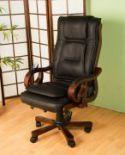 Ekskluzywny fotel biurowy z masażerem na pilota.
